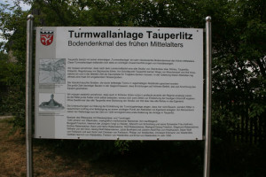 Turmwallanlage - Informationstafel